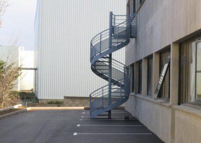 escalier colimaçon d'extérieur