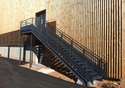 escalier d'extérieur marche caillebotis