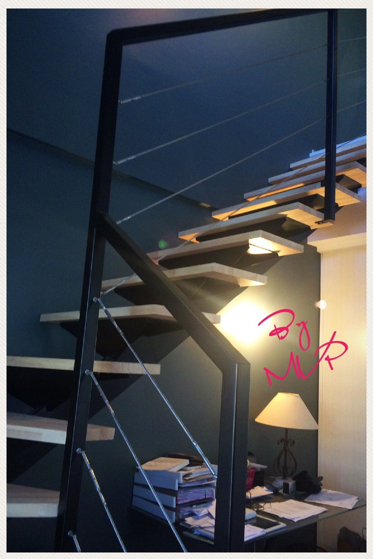 Escalier Bois Metal Noir escalier métal sur mesure béziers et alentours -mvp-escalier